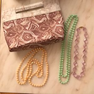 Jewelry bag with necklaces